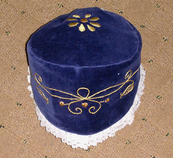 girl's dark blue cap